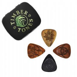 Laser Tones Mixed Tin of 4 Guitar Picks